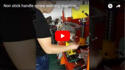 Non stick handle screw welding machine